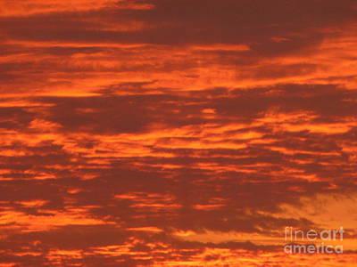 Outrageous Orange Sunrise Art Print