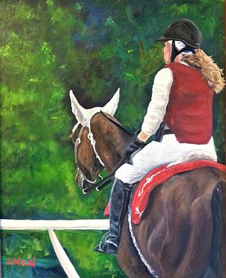 Race Horse Painting - Outrider by Ken Wilson
