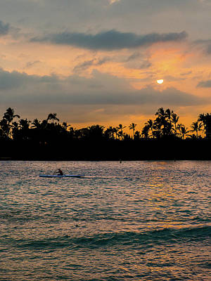 Photograph - Outrigger At Sunset by Mark Robert Rogers