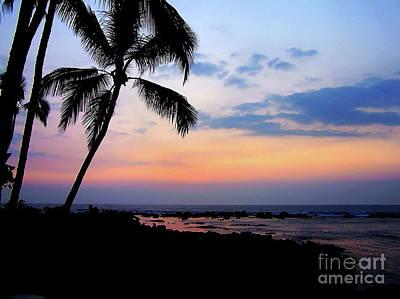 Photograph - Outrigger Beachside Sunset Afterglow Hawaii by Expressionistart studio Priscilla Batzell