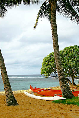 Photograph - Outrigger Canoe by Roger Mullenhour