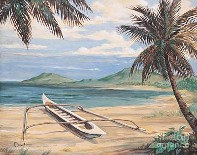 Outrigger Painting - Outrigger Cove by Paul Brent