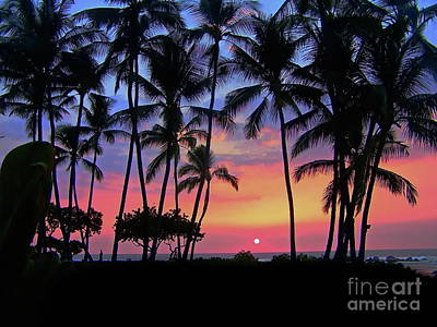 Photograph - Outrigger Garden Sunset Sky by Expressionistart studio Priscilla Batzell