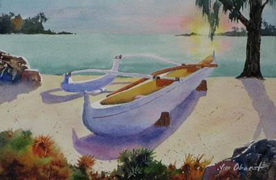 Oberst Painting - Outrigger by Jim Oberst