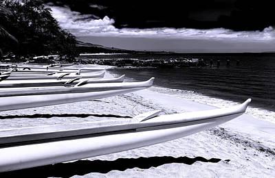 Photograph - Outrigger Ocean Canoes by John Orsbun