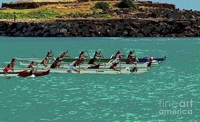Photograph - Outrigger Racing by Craig Wood