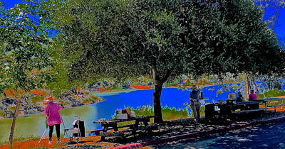 Keith Richards - Outside at the Reservoir by Scott L Holtslander