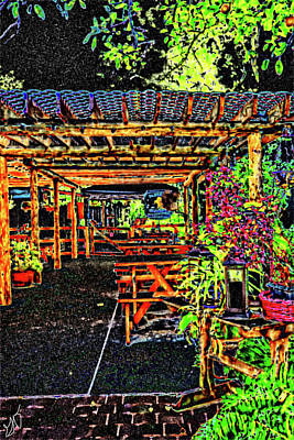 Photograph - Outside Dining by Gina O'Brien