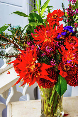 Photograph - Outside Flower Bouquet by Garry Gay