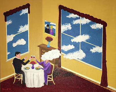 Surrealism Painting - Outside In by Thomas Blood