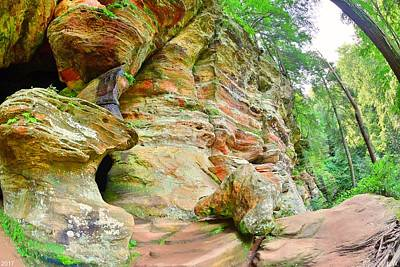 Photograph - Outside Of Rock House Hocking Hills Ohio by Lisa Wooten