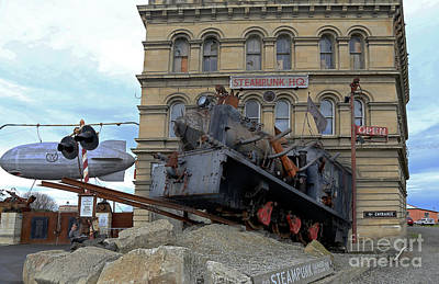 Photograph - Outside Steam Punk Hq Oamaru by Nareeta Martin