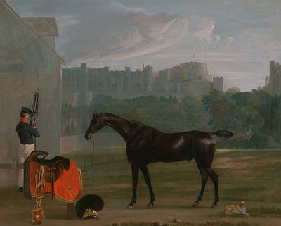 The Dog House Painting - Outside The Guard House At Windsor by Edmund Bristow