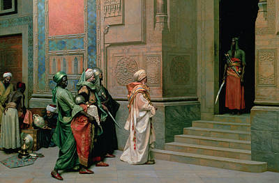 The Doors Poster Painting - Outside The Palace by Ludwig Deutsch