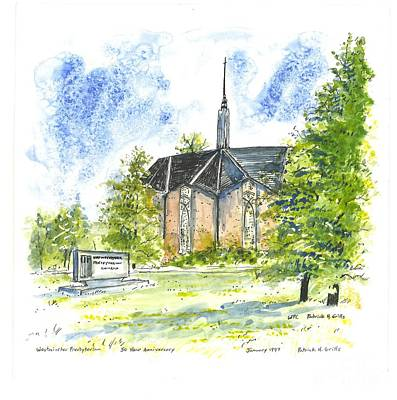 Outside The Sanctuary At Westminster Presbyterian Chuch Art Print