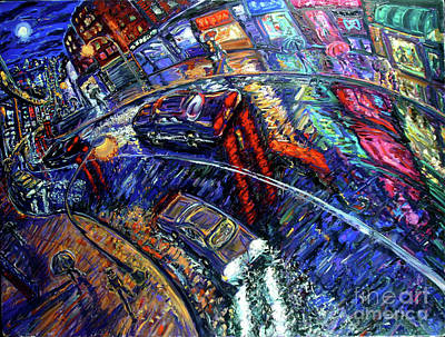 Times Square Painting - Outside The System by Arthur  Robins