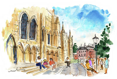 Painting - Outside York Cathedral by Miki De Goodaboom