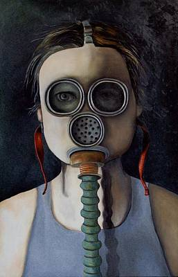 Odd Portrait Painting - Outsider 1 by Leah Saulnier The Painting Maniac