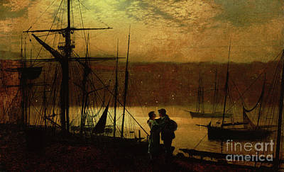 Painting - Outward Bound  A View Of Whitby, 1887 by John Atkinson Grimshaw