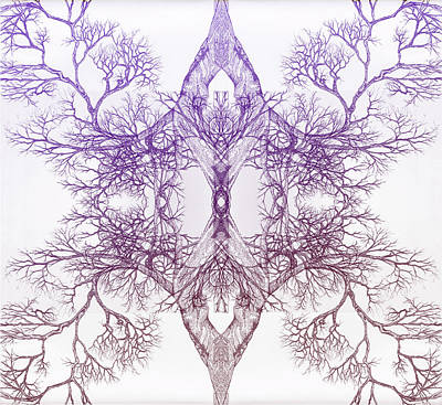 Digital Art - Outward Tree 9 Hybrid 4 by Brian Kirchner