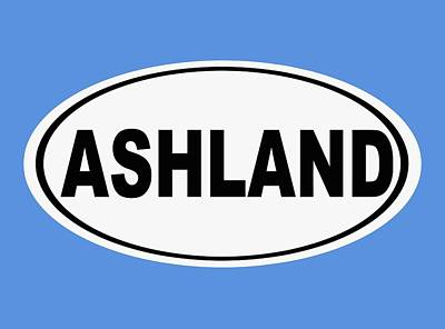 Art Print featuring the photograph Oval Ashland Oregon Or Ohio Home Pride by Keith Webber Jr