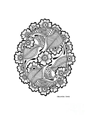 Oval Lace Art Print