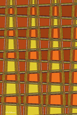 Digital Art - Oval Yellow Orange Black And White Abstract,#4 by Tom Janca