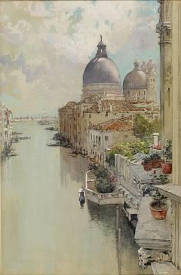 Over A Balcony Art Print by Francis Hopkinson