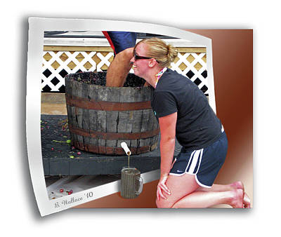 Wine Legs Photograph - Over A Barrel by Brian Wallace