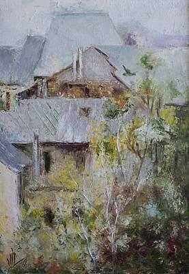 Impresionist Painting - Over City by Vali Irina Ciobanu