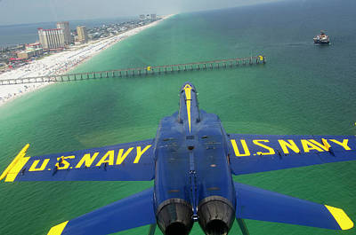 Photograph - Over Pensacola Beach by Specialist 3rd Class Andrew Johnson