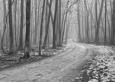 Winter Roads Photograph - Over River And Through Woods by N. Vivienne Shen Photography
