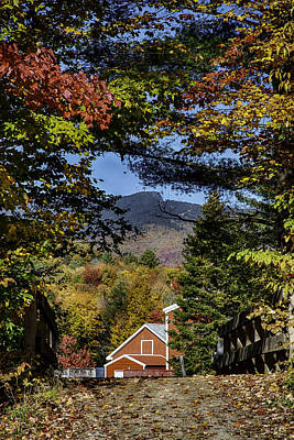 Photograph - Over The Bridge To Grandma's View Of Mount Mansfield by Jeff Folger