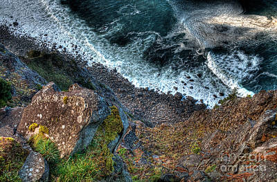 Oregon Photograph - Over The Cliff by Hilton Barlow