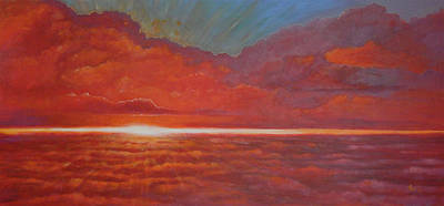 Painting - Over The Clouds by Arie Van der Wijst