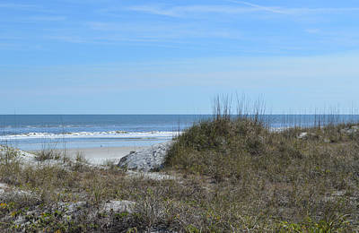 Photograph - Over The Dunes To The Beach At Jacksonville Beach, Florida by RD Erickson