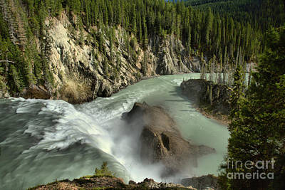 Photograph - Over The Edge At Wapta Falls by Adam Jewell