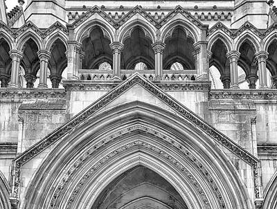 Photograph - Over The Entrance To The Royal Courts  by Shirley Mitchell