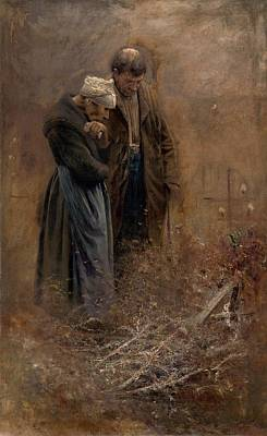Painting - Over The Grave, Laszlo Mednyanszky 1878 by Vintage Printery