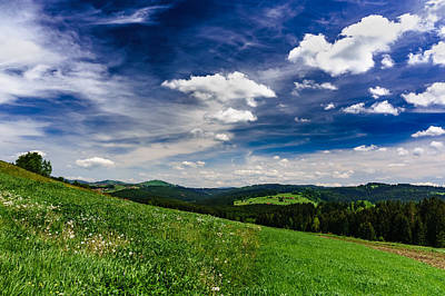 Print featuring the photograph Over The Green Hills by Dmytro Korol