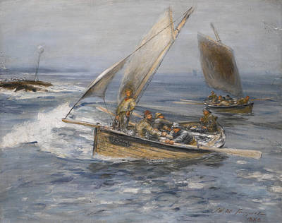 William Mctaggart Painting - Over The Harbour Bar by William McTaggart