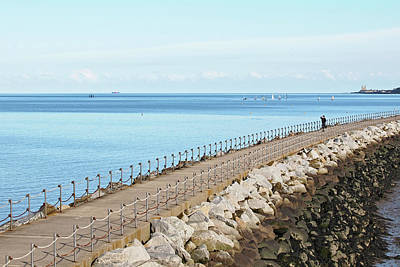Photograph - Over The Harbour Wall by Gill Billington