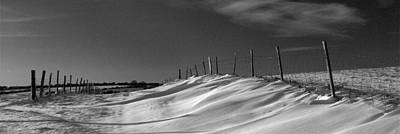 Winter Wonderland Mono Photograph - Over The Hill And Far Away by Hazy Apple