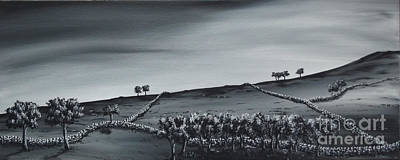 Painting - Over The Hill. by Kenneth Clarke