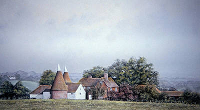 Pastel Barns Painting - Over The Hill And Far Away by Rosemary Colyer