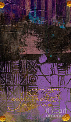 Mixed Media - Over The Purple Wall by Angela L Walker