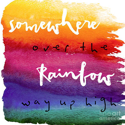 Inspirational Painting - Over The Rainbow by Mindy Sommers