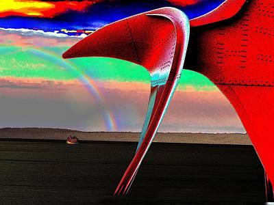 Sound Digital Art - Over The Rainbow by Tim Allen