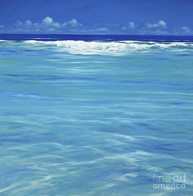 At Peace Painting - Over The Reef  by Derek Hare
