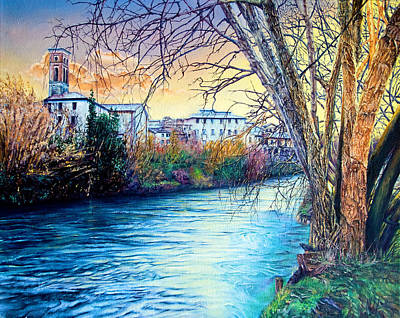 Painting - Over The River by Michel Angelo Rossi